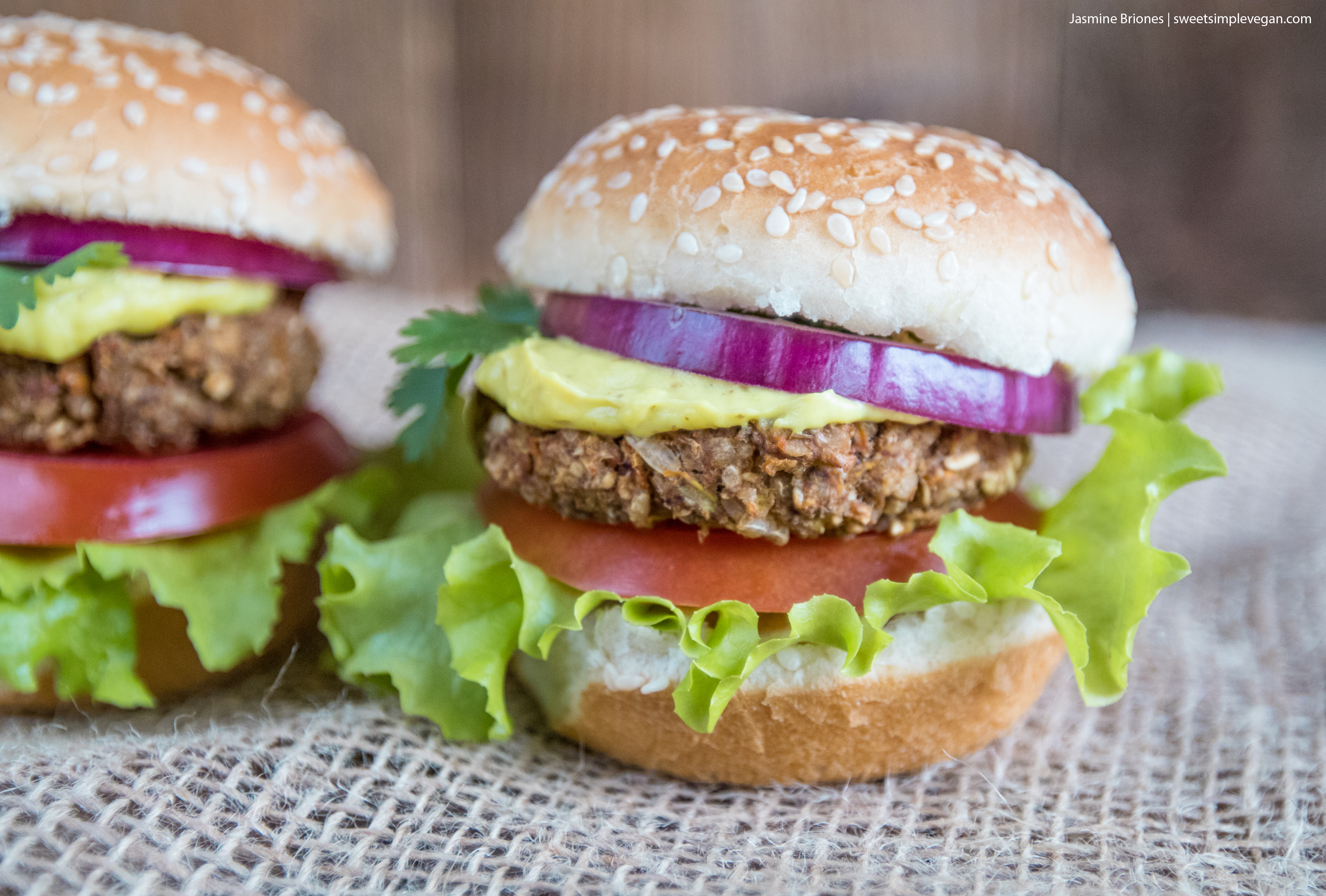 These veggie burger sliders are easy to make, jam-packed with flavor and the perfect recipe to meal prep at home for the week! It is loaded with protein along with a plethora of vegetables, so you'll be able to enjoy a delicious vegan burger without skimping out on nutrition! #veggie #burger #vegan #veganprotein #sliders #lunch #dinner #entree #savory #mealprep #leftovers #easy #nutritious