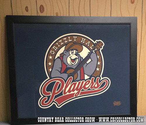 2016 Disney March Magic Tournament Grizzly Hall Players Logo Poster - Country Bear Jamboree Collector Show #044