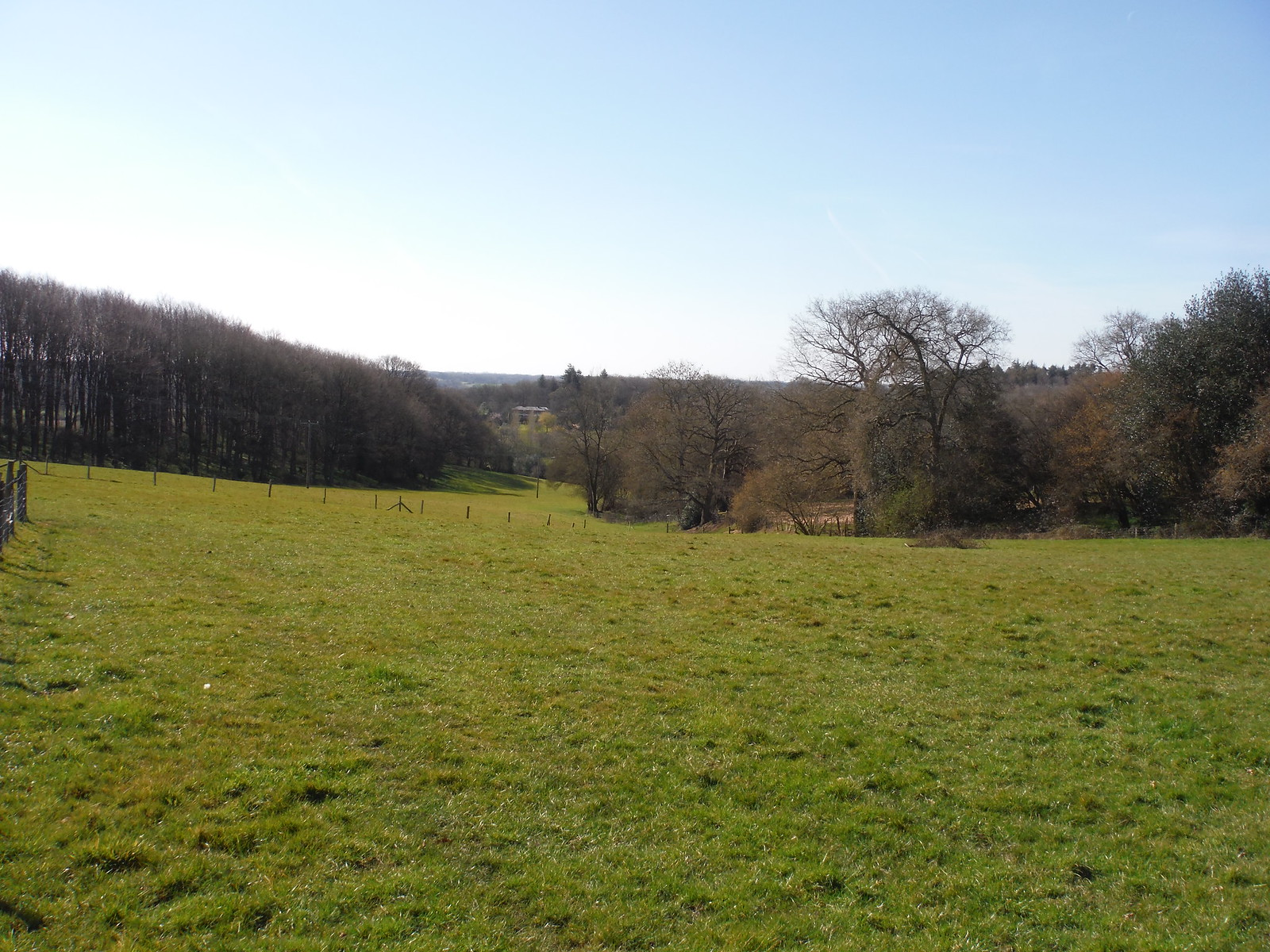 Southerly View from Beenham Church SWC Walk 260 Aldermaston to Woolhampton [Midgham Station] (via Frilsham)