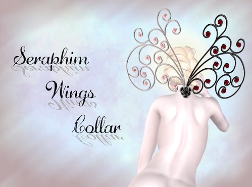 Seraphim wings collar illustration