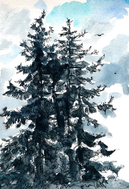 Sketchbook #95: Swim Team Trees