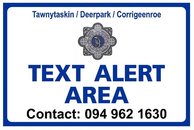 Text Alert Sign