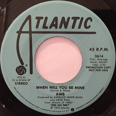 AWB:WHEN WILL YOU BE MINE(LABEL SIDE-A)