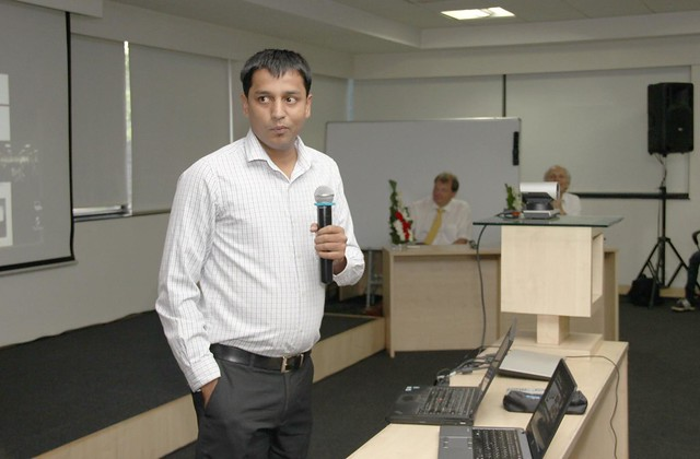 Waseem Siddiqui speaking at an international IT conference