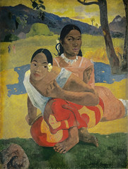 Paul Gauguin - NAFEA faaipoipo (When Will You Marry?), 1892 (Kunstmuseum Basel Switzerland) at Gauguin-to-Picasso Exhibit - Philllips Collection Washington DC
