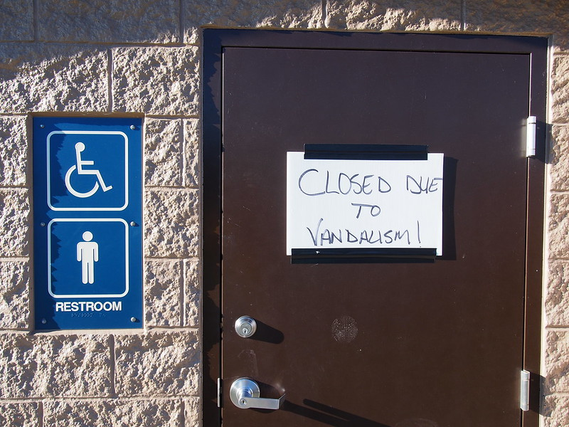Closed due to Vandalism: If the Eastside is so great, why are most of the restrooms on the Sammamish River Trail vandalized to the point of closure?