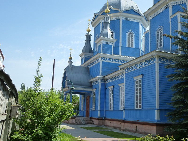 Side entrance in church