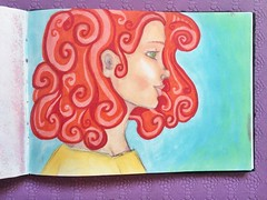 I got myself some new pro markers so I had to try them out! Pastels baby. #sketchbook #promarkers #copicmarkers #drawing #curlyhair #pastels #art #portrait