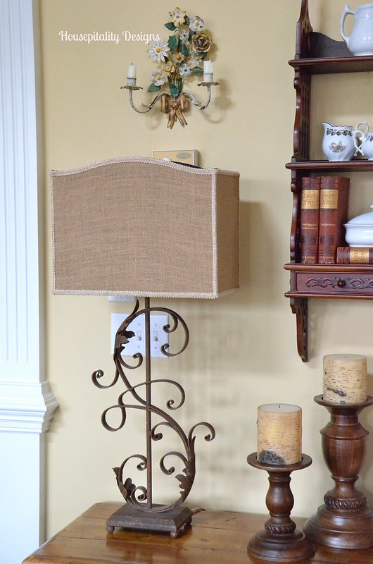 Iron Scroll Lamp - Housepitality Designs