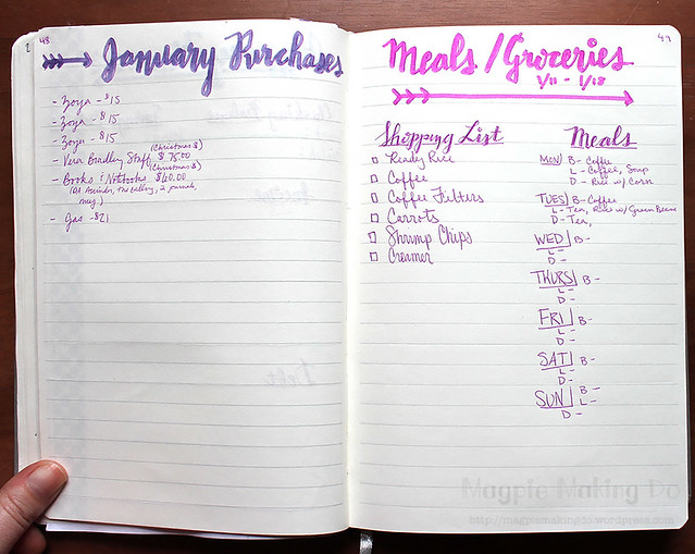 Purchases Groceries and Meal Planning
