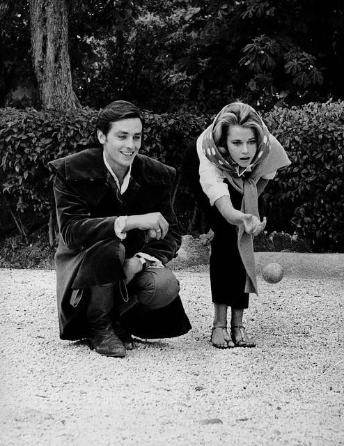 Les Félins - Backstage 2 - Alain Delon & Jane Fonda