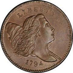 1794 Liberty Cap Half Cent. Cohen-4a obverse