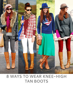 Not Dressed As Lamb | 8 Ways to Wear Knee-High Tan Boots