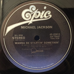 MICHAEL JACKSON:WANNA BE STARTIN' SOMETHIN'(LABEL SIDE-A)