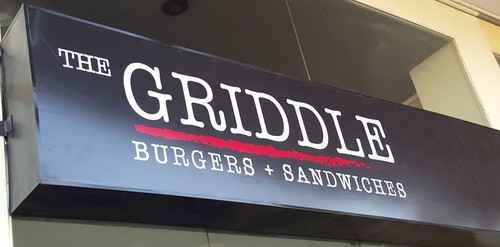 Signage | The Griddle Burgers + Sandwiches at Tionko Avenue - DavaoFoodTrips.com