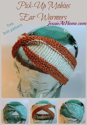 Pick-Up Mobius Ear Warmers - free knit pattern by Jessie At Home