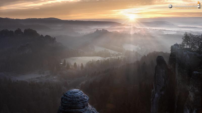 Sunrise in Saxon Switzerland