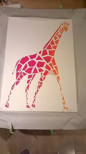 Gorgeous Giant Geometrical Giraffe
