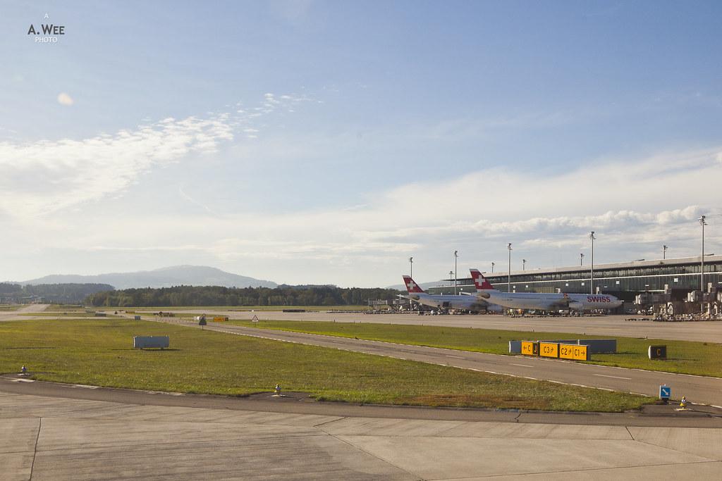 Landing at Zurich International Airport