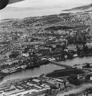 Flyfoto over Nidarø og Kalvskinnet (1945)