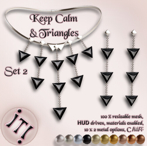 !IT! -  Keep Calm & Triangles Set 2 Image