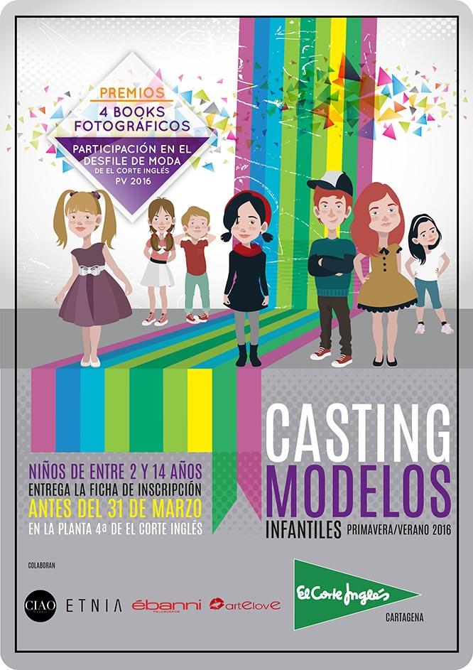 El Corte Inglés de Cartagena busca modelos infantiles