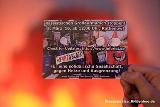 2016.02.23 Rathenow - Buergerbuendnis, Neonaziaktion und Proteste (1)