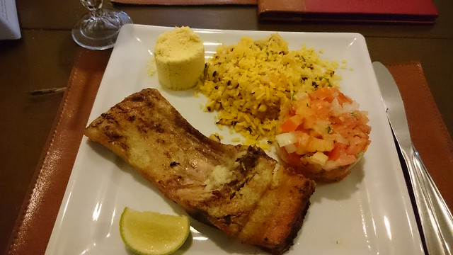 tambaqui dinner fish tapioca manaus brazil