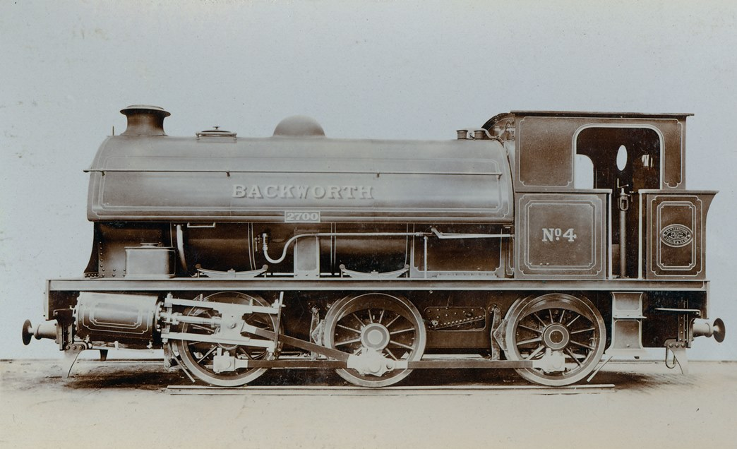 Saddle tank engine built for Backworth Coal Company