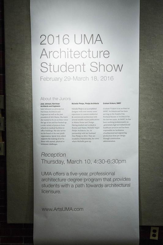 2016 UMA Architecture Student Show