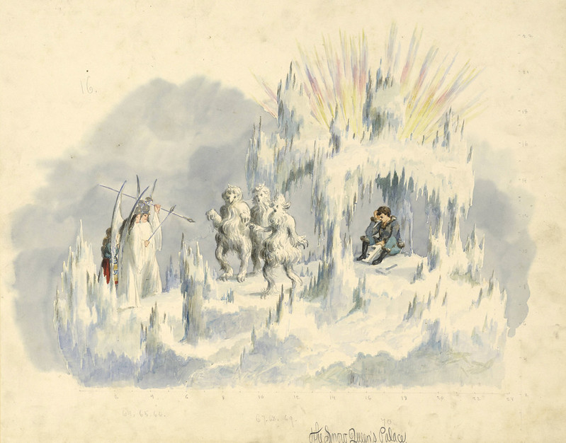 Carlotta Bonnecaze - The Snow Queen's Palace, float design from Krewe of Proteus Parade, 1887