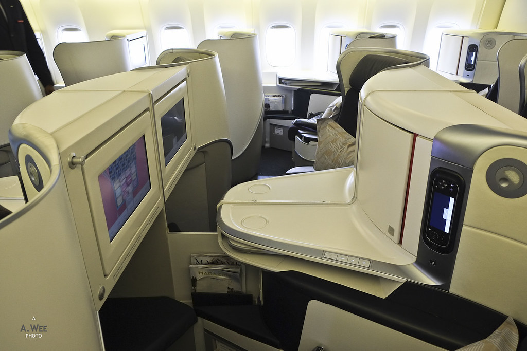 Center business class seats