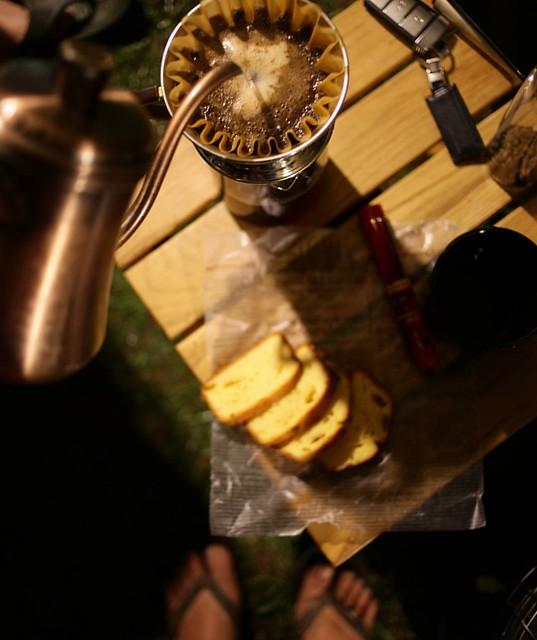 20160312 再晚再飽 也要喝杯老戴咖啡 喝一喝 神清氣爽 #歐北露 #2016愛露營帳篷會