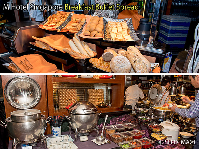 M Hotel Singapore Breakfast Buffet Spread