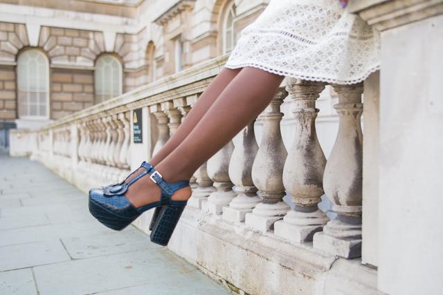 Orla Kiely x Clarks heels
