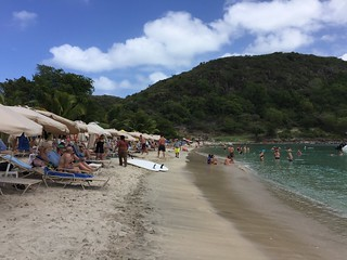 Cockleshell Beach on St. Kitts has a variety of beach bars, snacks and water-sport rentals.