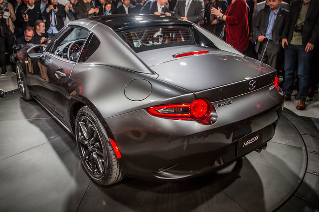 2017-Mazda-MX-5-Miata-RF-on-stage-side-rear-view-closer