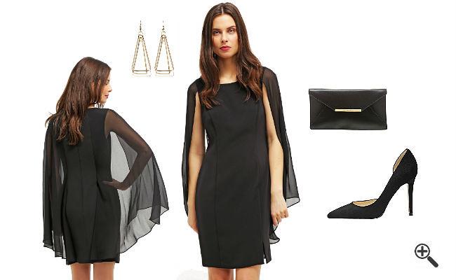 Schwarzes abendkleid kombinieren