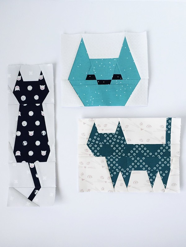 Kitten Around Block Paper Piecing Pattern And Sew Along
