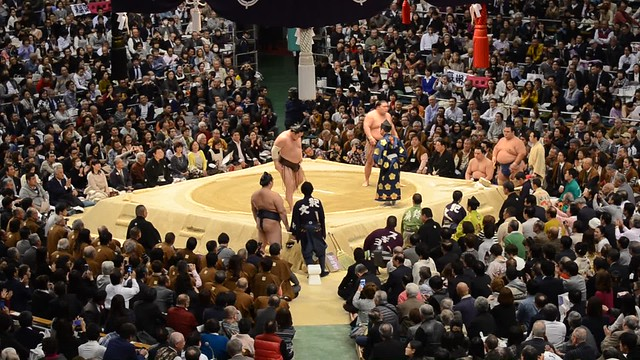 Photo:Hakuho vs Goeido (Day 12) By jpellgen (@1179_jp)