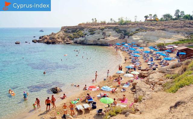 Пляж Каппарис. Коллекция Кипр Фото Пляжей в районе города Протарас