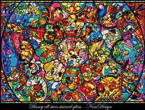 Disney All Stars Stained Glass