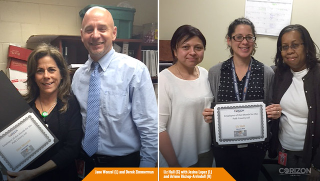 Health Services Administrator names Employees of the Month in Polk County, Florida