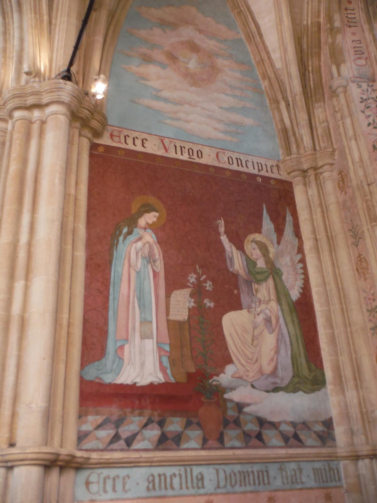 Pre-Raphaelite Mural, Dorchester Abbey SWC Walk 44 - Didcot Circular