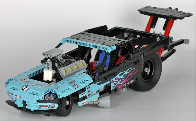 Review 42050 Drag Racer Lego Technics Souped Up Funny Car