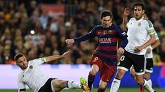 Leo Messi nunca apareció para darle la victoria a los catalanes. (Foto: AFP)