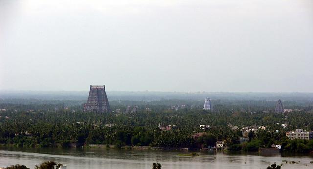 El Sri Ranganathaswamy desde Rock Fort