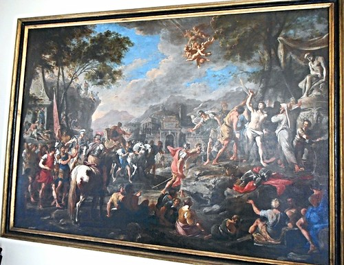 """Saint Sebastian's martyrdom"" by Domenico Gargiulo called ""Micco Spadaro"" (Naples 1609/12-Naples 1675) - San Martino Museum (Carthusian monastery) in Naples"
