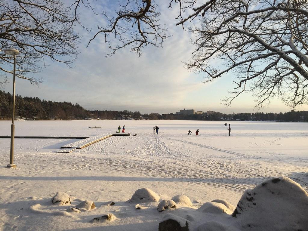 Vinter på rönningesjön, ett kyligt Stockholm