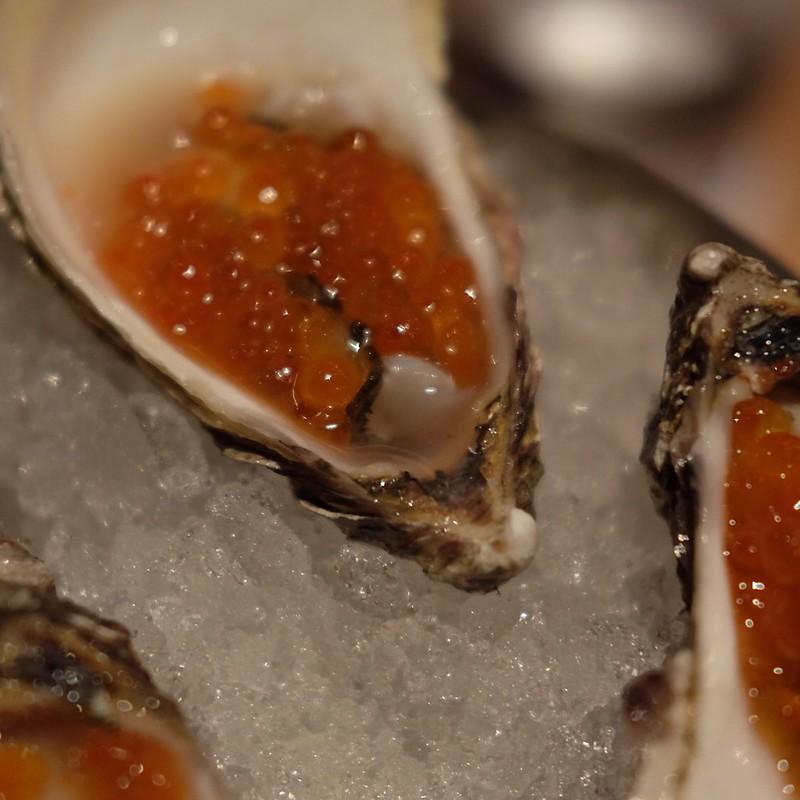 Salmon Roe Calamansi Ponzu Oyster